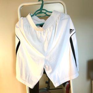 Adidas white training running shorts